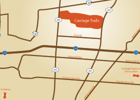 Carriage Trails Local Map